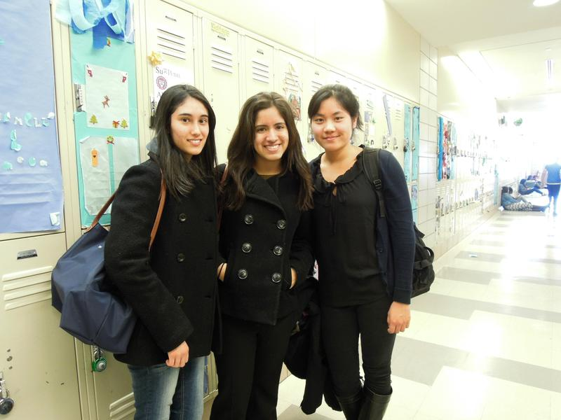 Ophira Blumner, Alessandra Taboada and Amy Hao, seniors at Townsend Harris High School, say they set multiple alarms to wake up in the morning.