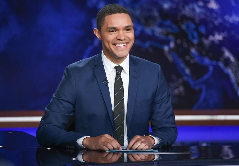 """Trevor Noah on set during a taping of """"The Daily Show with Trevor Noah"""" on Tuesday, Sept. 29, 2015, in New York."""
