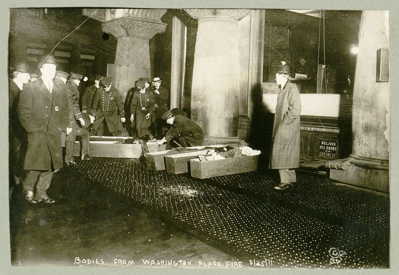 Some of the victims of the Triangle Shirtwaist fire on March 25, 1911.