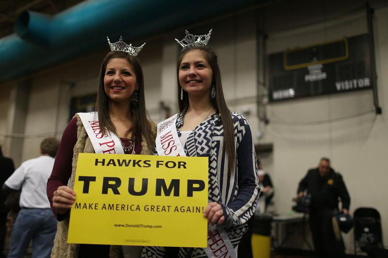 Donald Trump is getting plenty of support from voters, despite his lack of favor from the Republican party establishment.