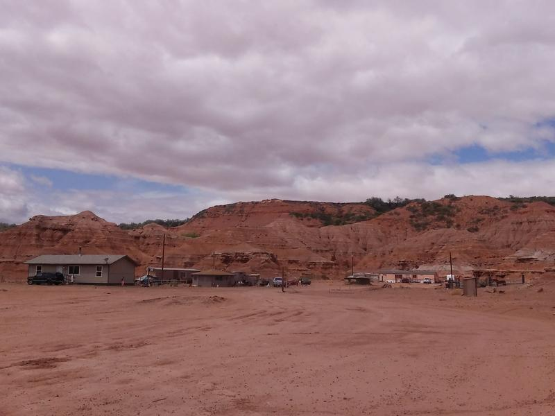 The outskirts of Tuba City, on a Native American reservation