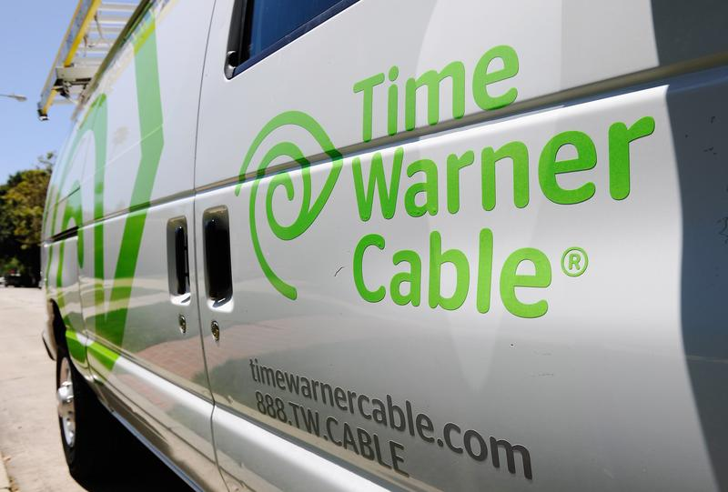 A Time Warner Cable van is parked on the street on August 3, 2011 in Los Angeles, California.