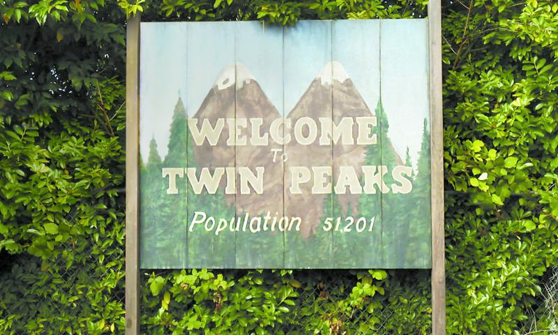 """The welcome sign from """"Twin Peaks"""""""