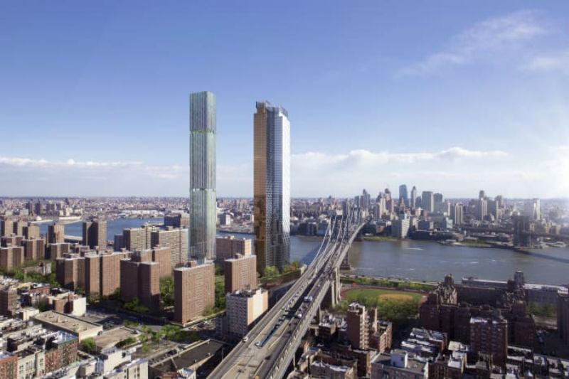 Renderings of the towers coming to the Two Bridges section of the Lower East Side