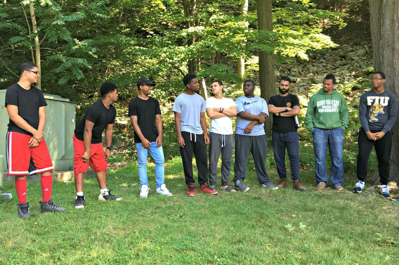 Students from the Urban Assembly School for Applied Math and Science attend a retreat at Black Rock Forest.