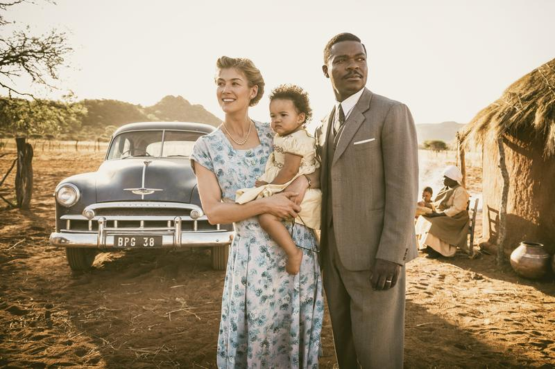 "Actors David Oyelowo and Rosamund Pike in ""A United Kingdom"" (reprinted with permission from 20th Century Fox)"