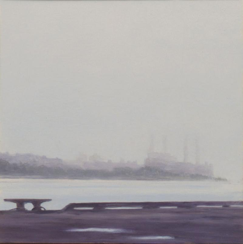 """From the Barge""  Oil on board, 2008"