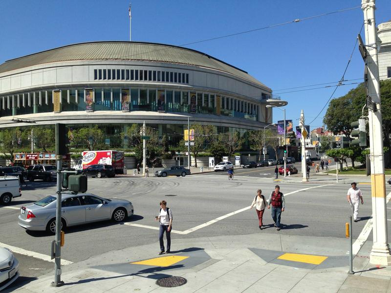 The intersection of Grove and Van Ness, where two people have died in 2014.