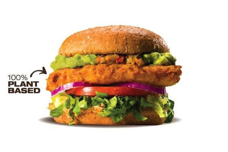 "A Veggie Grill ""burger"" made from vegetables and grains."