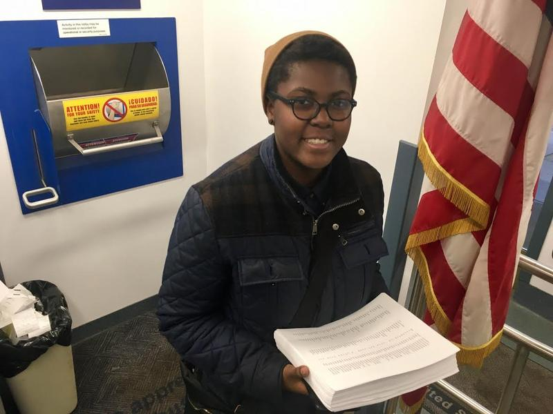 Victoria Barrett mails thousands of petitions to the White House