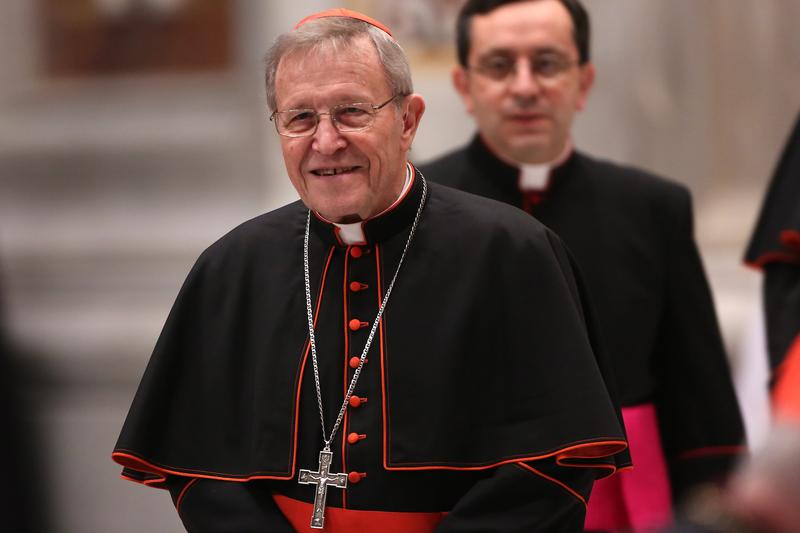 German cardinal Walter Kasper attends a meeting of prayer at St. Peter's Basilica on March 6, 2013 in Vatican City, Vatican.