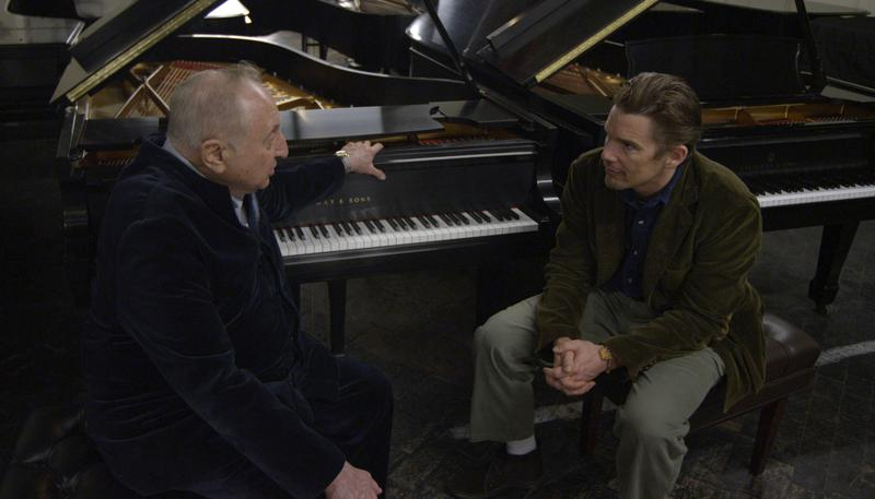 Seymour Bernstein and Ethan Hawke in Hawke's SEYMOUR: AN INTRODUCTION.