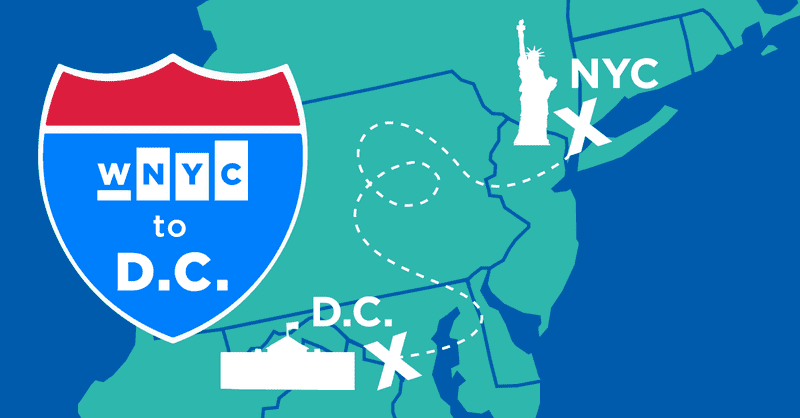 We're driving from New York to D.C. for the Inauguration, and we're doing it on the radio.