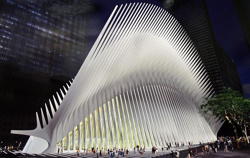In this artist's rendering provided by the Santiago Calatrava SA, architect Santiago Calatrava's design for the World Trade Center Transportation Hub project is seen July 28, 2005 in New York City.