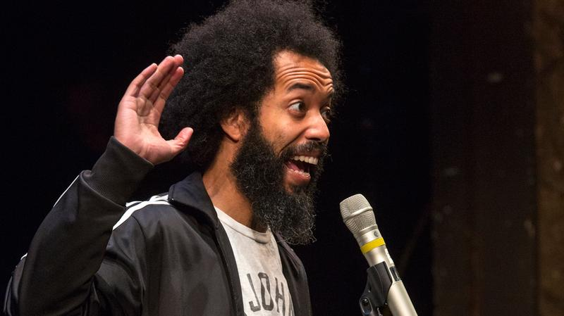 Wyatt Cenac performs live for Soundcheck at Brooklyn's BAM Harvey Theater as part of RadioLoveFest.