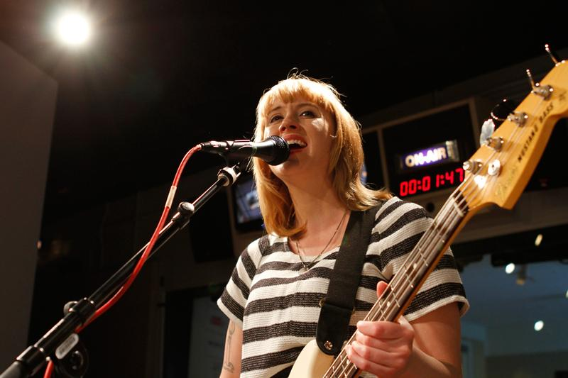 Jenn Wasner of Wye Oak performs in the Soundcheck studio.