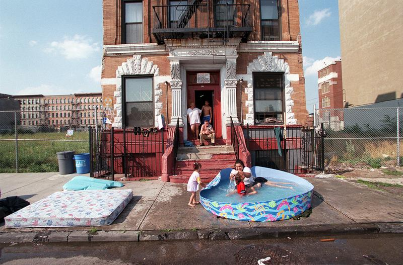 07/06/99 New York, N.Y Bathers ages 2 to 35 found a refuge from the heat yesterday -- at least temporarily -- in a wading pool on 134th Street in the South Bronx.