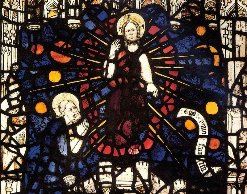 Panel from the early 15th-century stained glass window in the Lady Chapel of York Minster