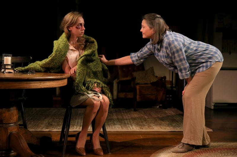 Zoe Kazan as Mary Anne and Cherry Jones at Agnes in 'When We Were Young and Unafraid' at Manhattan Theatre Club.