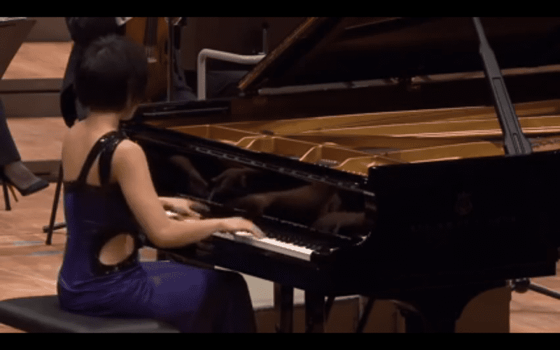Yuja Wang performing Mozart's Rondo alla Turca in a viral video.