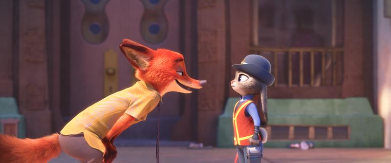"NATURAL ENEMIES — Zootopia's first bunny officer Judy Hopps finds herself face to face with a fast-talking, scam-artist fox in Walt Disney Animation Studios' ""Zootopia."""