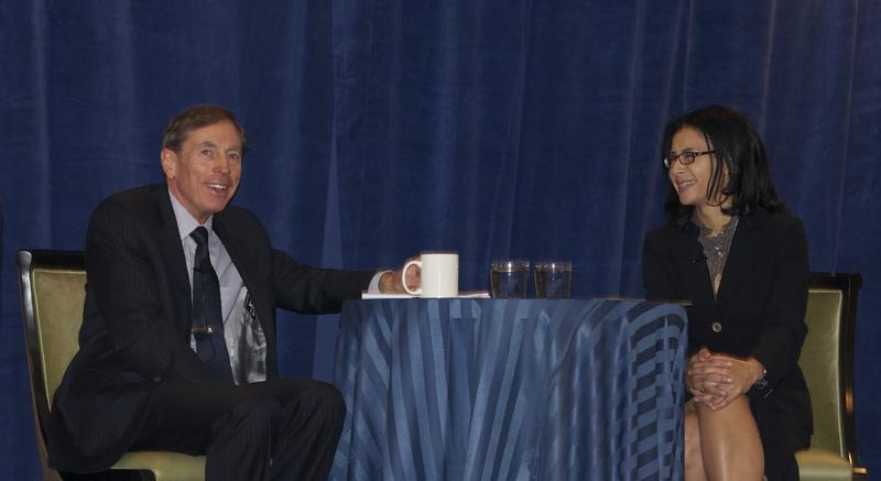 Jami Floyd interviews Gen. David Petraeus at the White House in October.