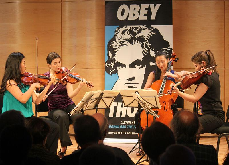 Graduates of the Perlman Music Program play in The Greene Space