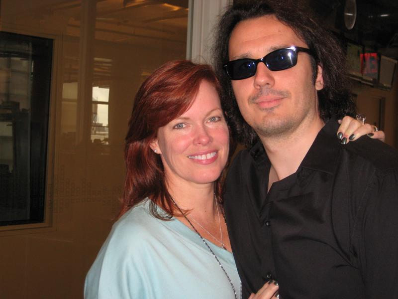 Damien Echols and his wife Lori in the WNYC studios