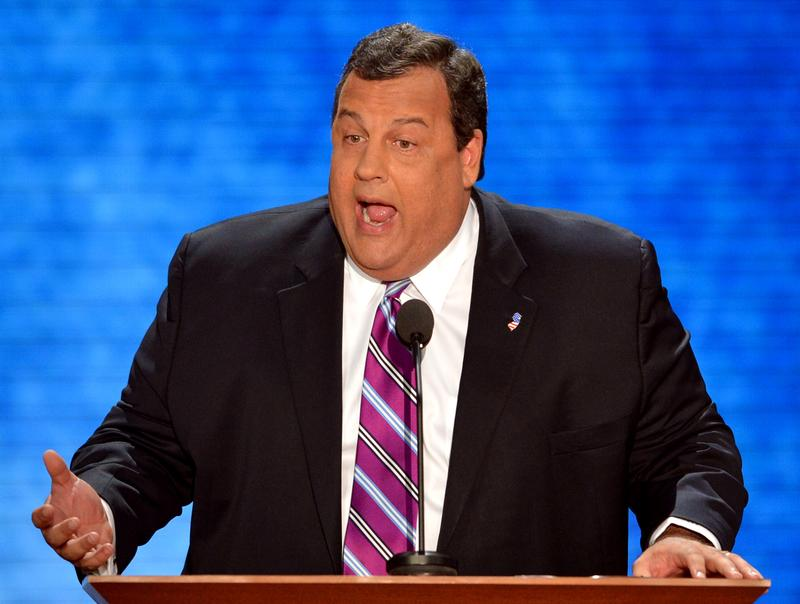 New Jersey Governor Chris Christie speaks at the Tampa Bay Times Forum in Tampa, Florida, on August 28, 2012 during the Republican National Convention.