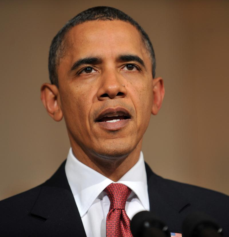 Barack Obama addresses the situation in Egypt on February 1, 2011.