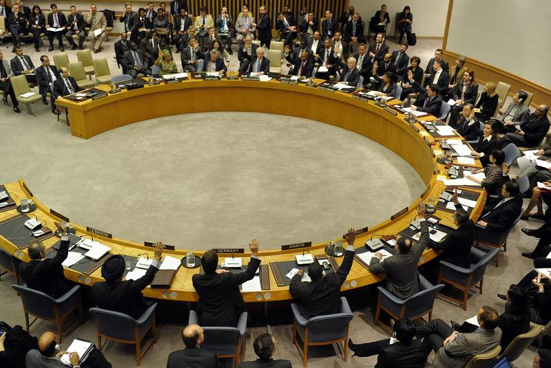 The UN Security Council unanimously ordered an arms embargo against Libya Feb. 26, a travel and assets ban on Moammar Gadhafi's regime and a crimes against humanity investigation into the bloodshed.