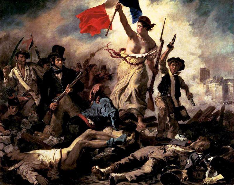 'Liberty Leading the People' by Eugène Delacroix is in the Louvre Museum.