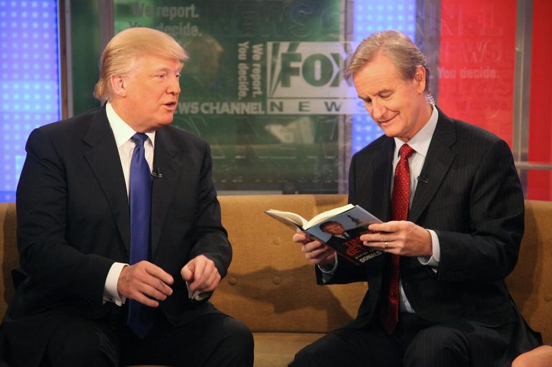"Donald Trump promotes his new book ""Time to Get Tough"" on Fox & Friends with Steve Doocy."