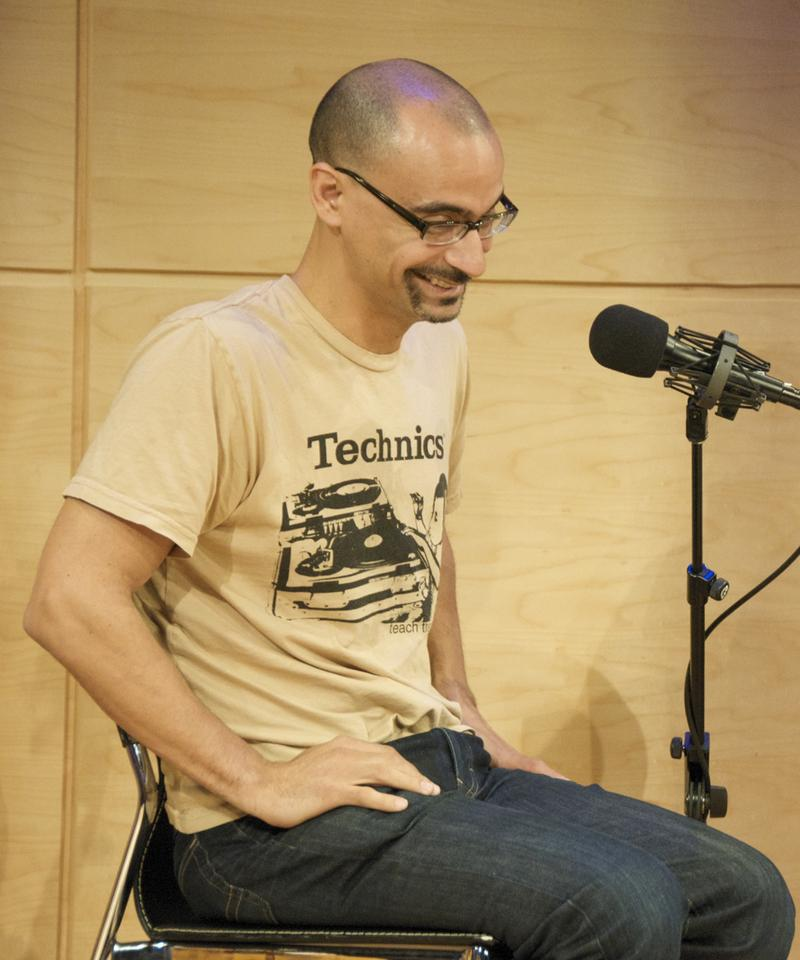 Junot Diaz in WNYC's Jerome L. Greene Performance Space