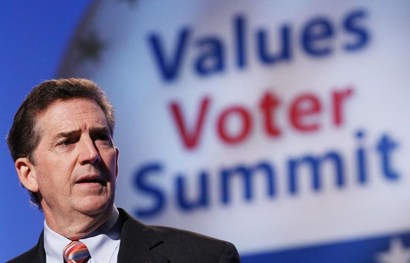 Sen. Jim DeMint, R-S.C., speaks at the FRC's Values Voter Summit in Washington on Friday, Sept. 17, 2010.