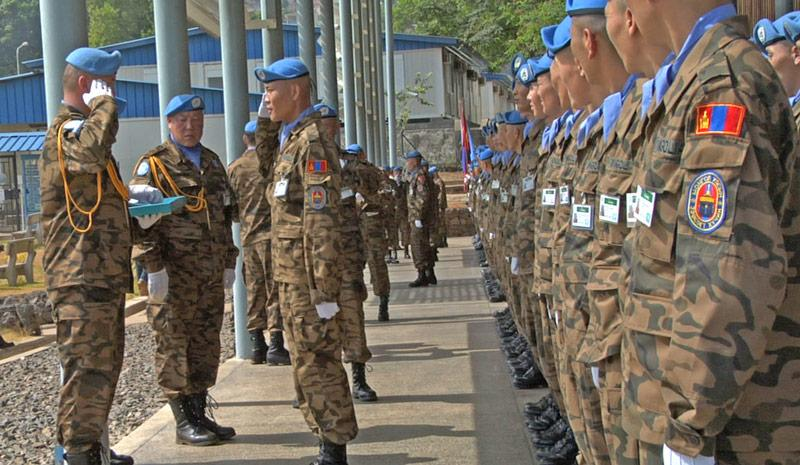 Mongolian peacekeepers protect the Special Court of Sierra Leone