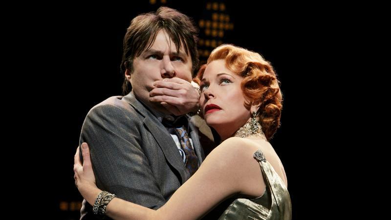 Zach Braff and Marin Mazzie in 'Bullets Over Broadway'