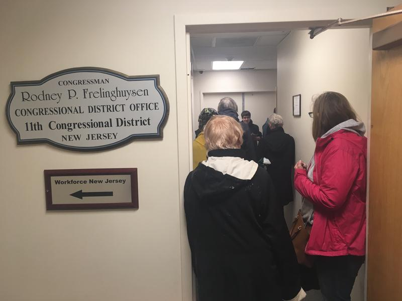 Protesters at Rodney Frelinghuysen's office on May 5, 2017