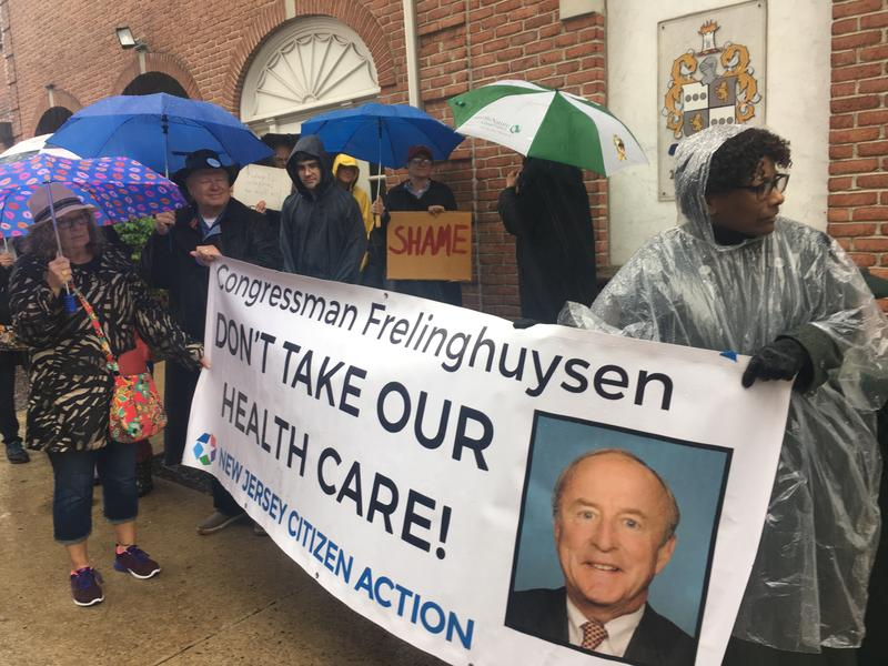 Protesters at Rodney Frelinghuysen's office.