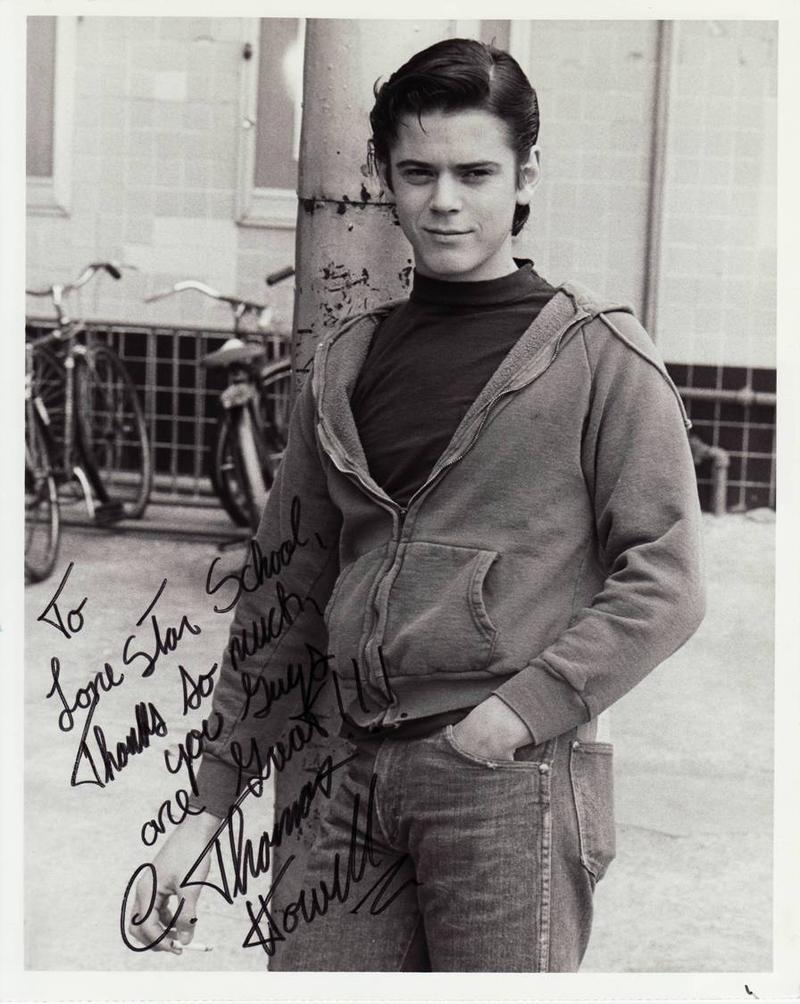 C. Thomas Howell's autographed photograph for Lone Star Junior High School