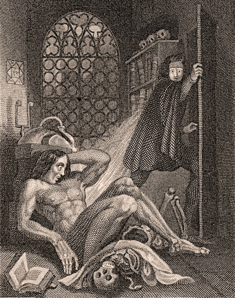 "Illustration from a 1831 edition of ""Frankenstein"""