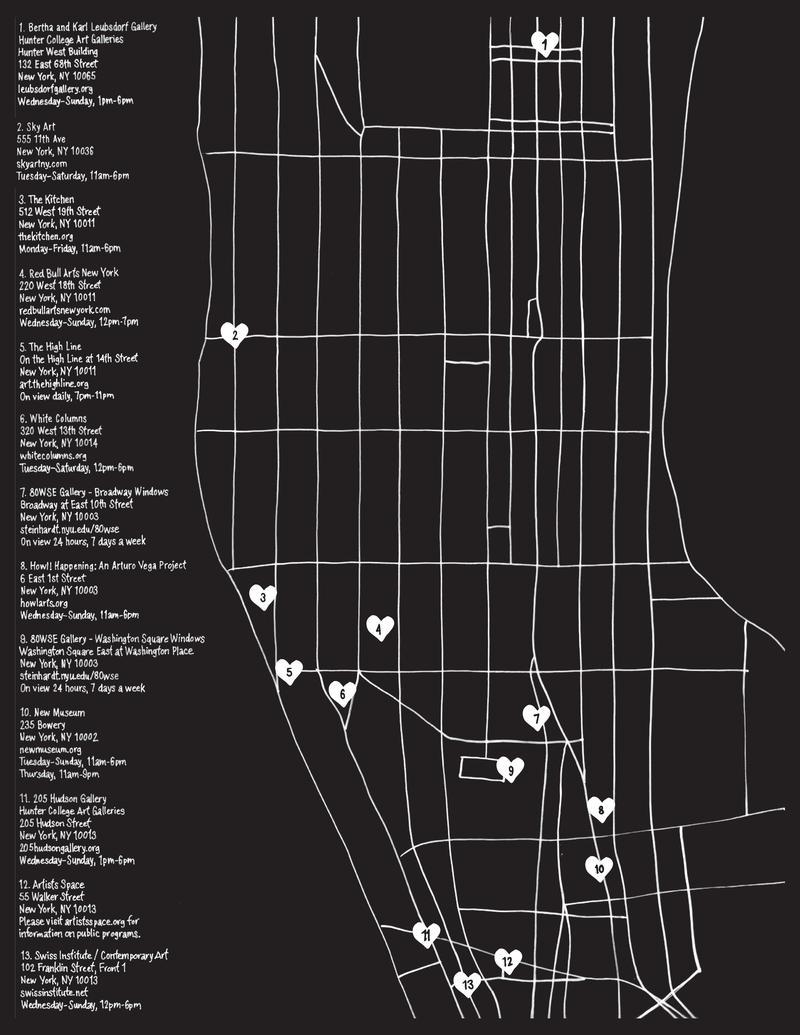 Deborah Solomon On Http Wnycorg Bertha Wiring Diagram A Map Of The 13 Non Profit Spaces Participatingin Show I John Giorno