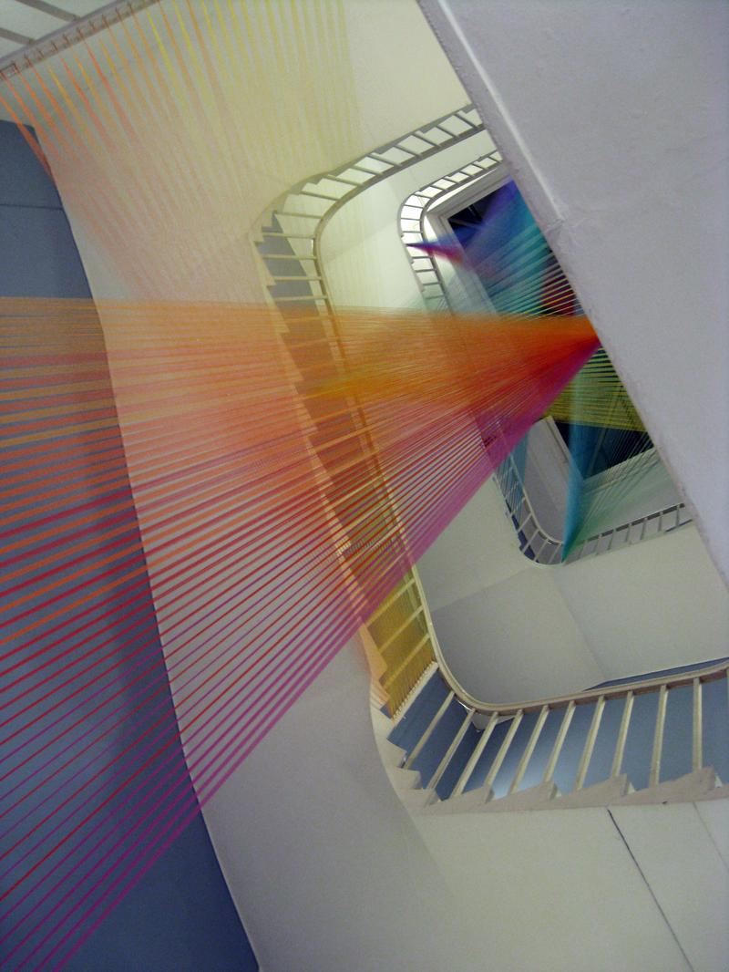 'Plexus No. 11,' 2011, Site specific installation at the Courtauld Institute for East Wing X