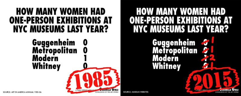 The Guerrilla Girls continue to use art-world data to reveal gender discimination