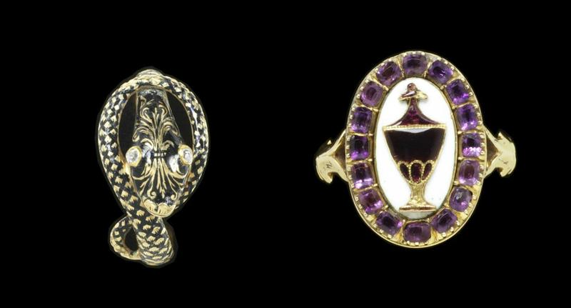 Two more elaborate examples of mourning rings