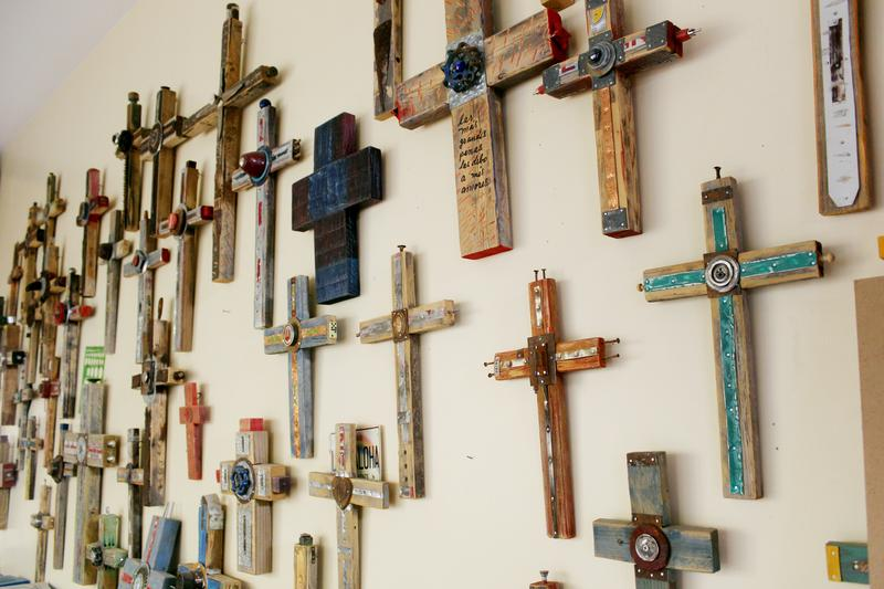 Crosses constructed by Alvaro Enciso.