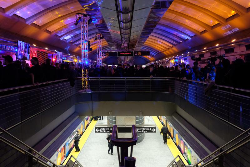 More than 500 people attended the New Year's Eve party at the 72nd Street station on 2nd Ave.