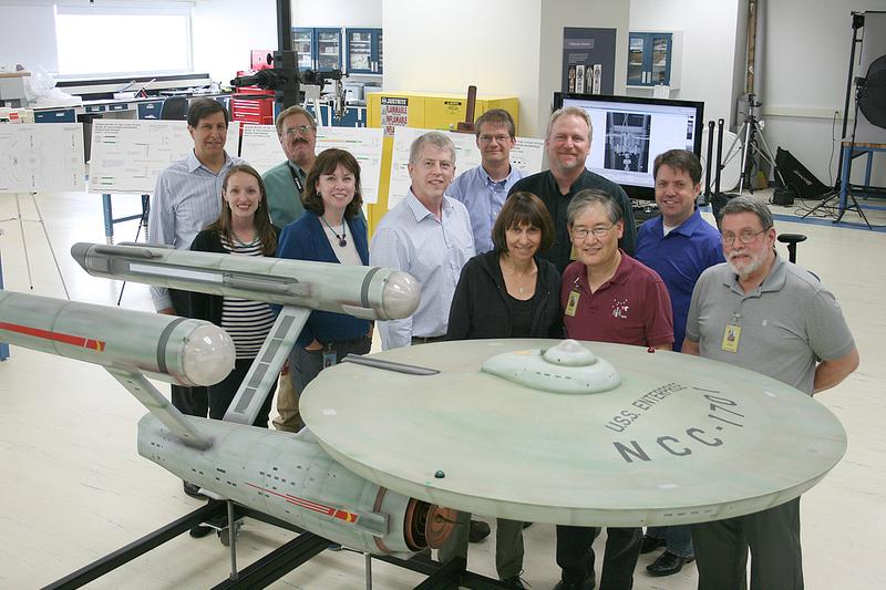 Members of the Enterprise artifact advising team (pictured here) include an Academy Award winning visual effects artist, a Star Trek studio model collector, and the lead graphic designer for four Sta
