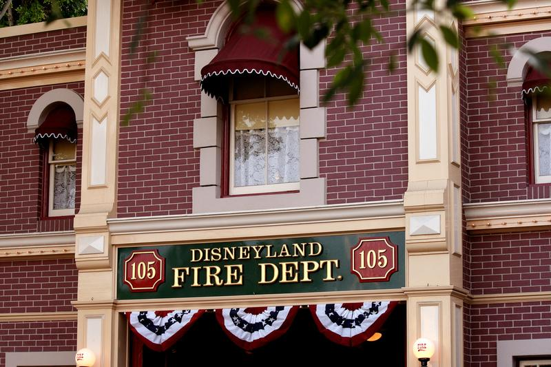 Above the firehouse on Main Street USA sits Walt's private study where he would work and entertain guests at Disneyland