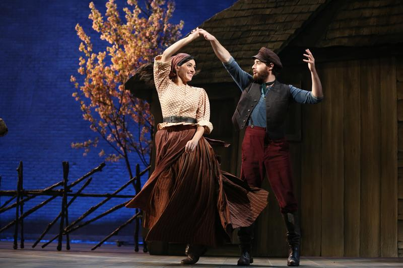 "Samantha Massell and Ben Rappaport in the ""Fiddler on the Roof"" 2015 revival"